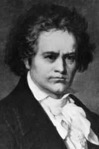 Ludwig van Beethoven auf einem Bild